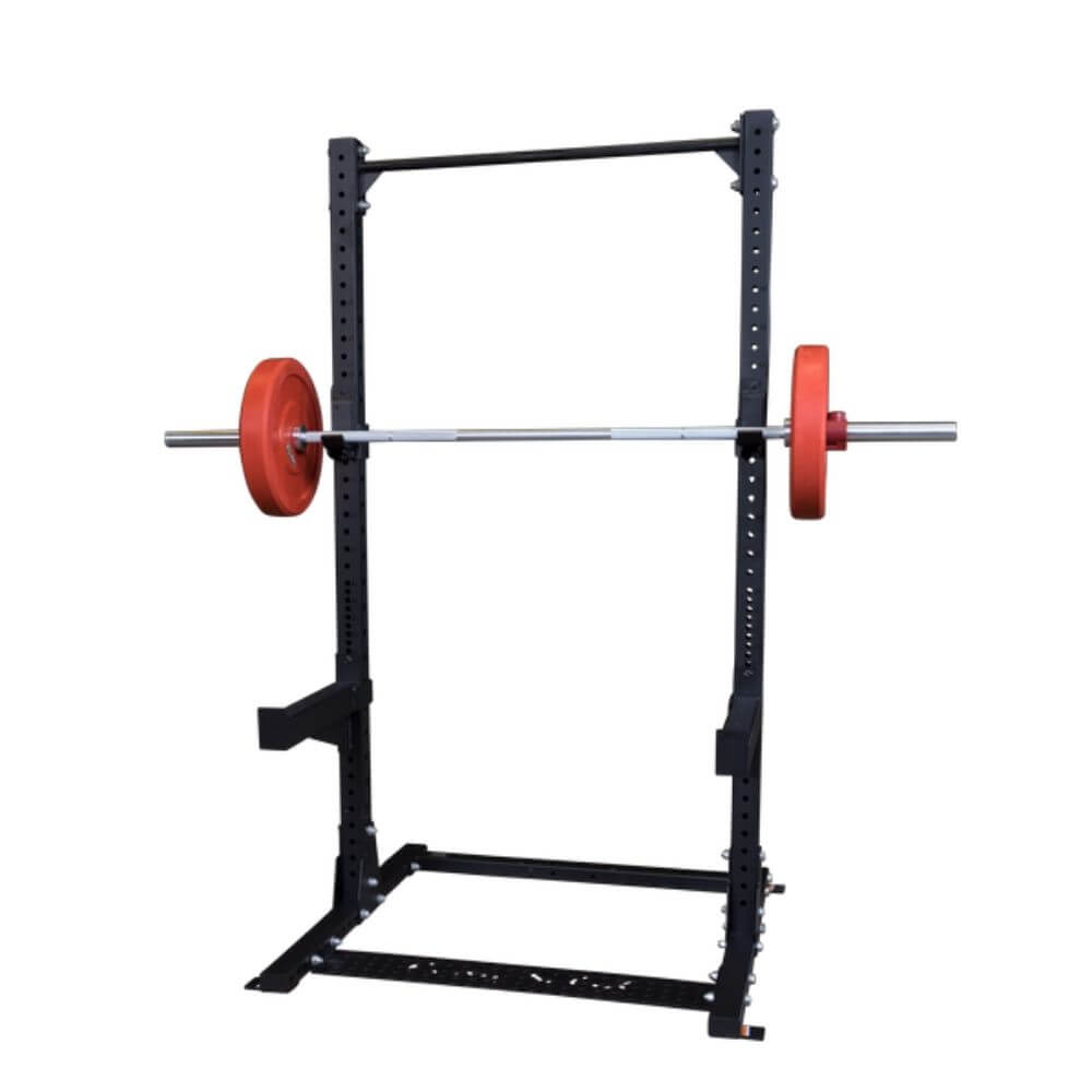 Body-Solid SPRJC J-Cups for SPR Racks Front View With Bars