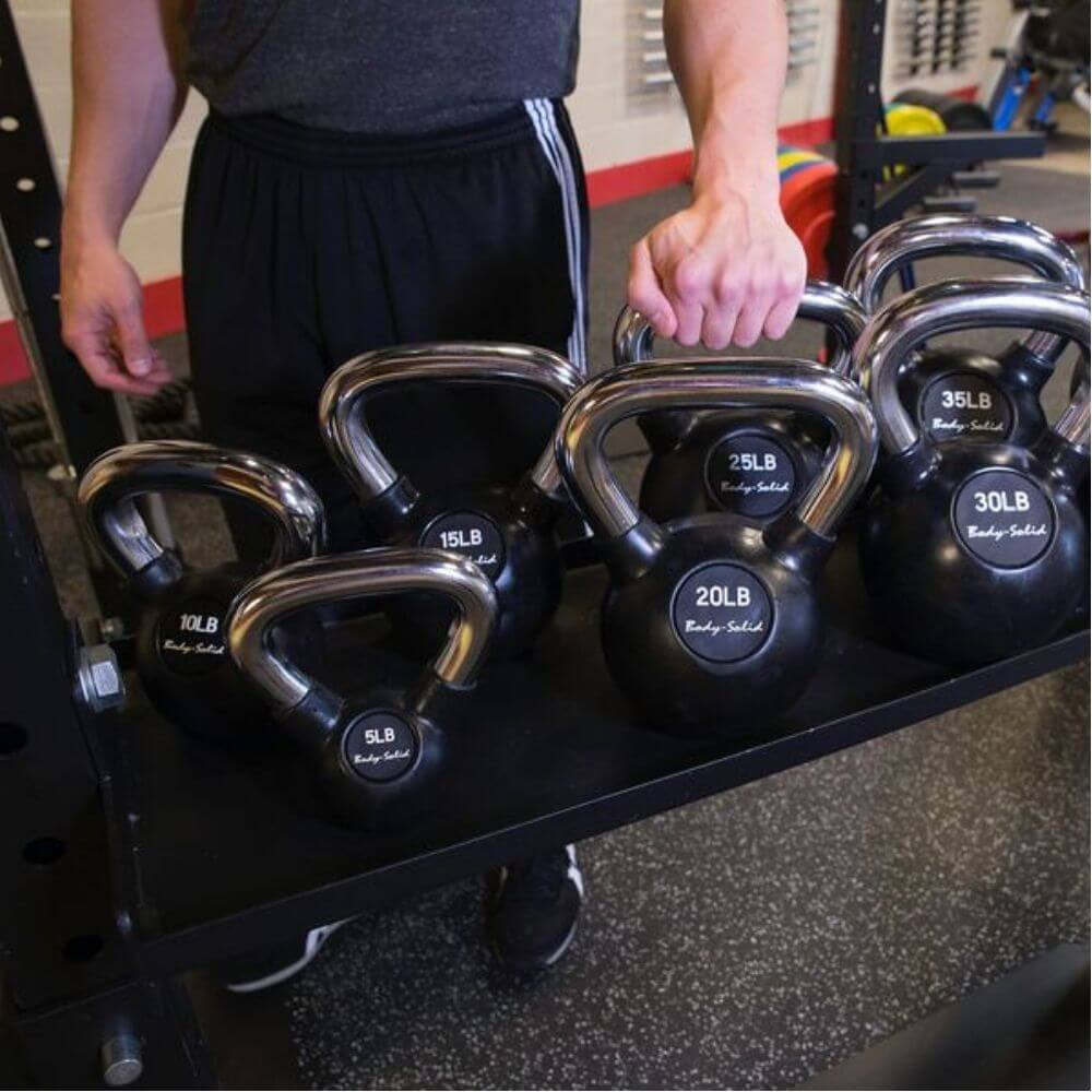 Body-Solid SR-HEXDBLP4 Hexagon Pro Double Package Kettlebell Tray