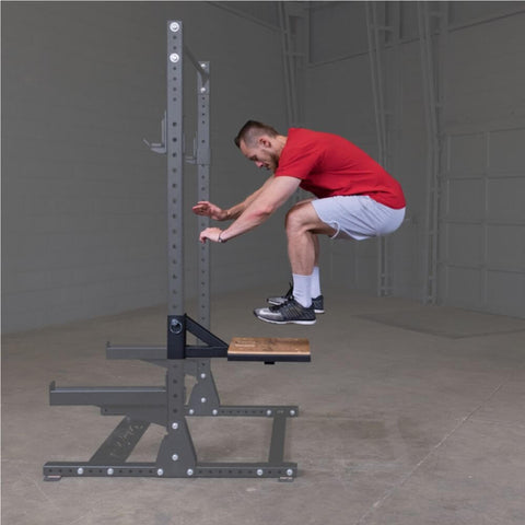Image of Body-Solid SR-STEP Plyo Step Attachment Side View