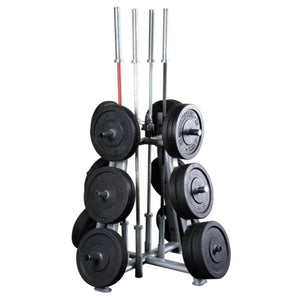Body-Solid SWT1000 Olympic Plate Tree And Bar 3D View