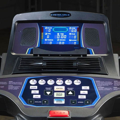 Body-Solid T150 Commercial Treadmill Control Panel Close Up View
