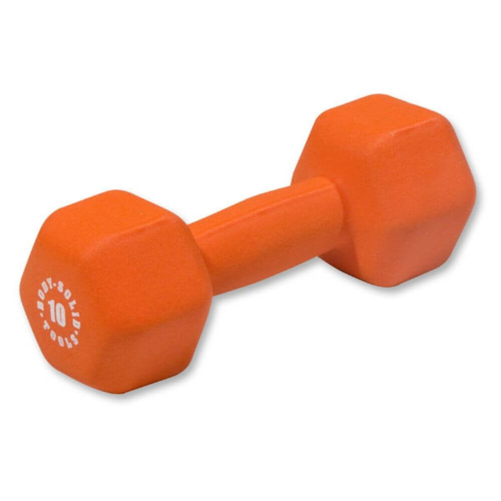 Body-Solid Tools BSTND Neoprene Dumbbells 10 lbs