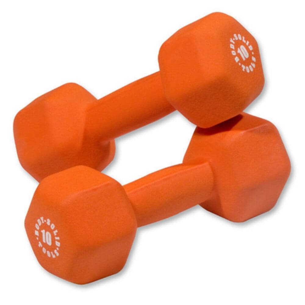 Body-Solid Tools BSTND Neoprene Dumbbells 10 lbs Pair