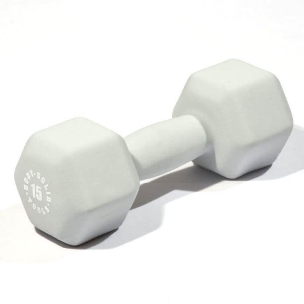 Body-Solid Tools BSTND Neoprene Dumbbells 15 lbs