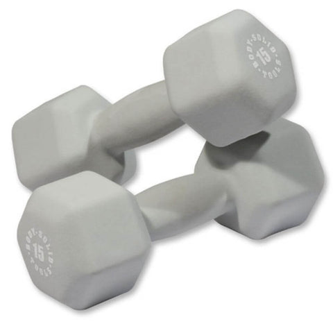 Image of Body-Solid Tools BSTND Neoprene Dumbbells 15 lbs Pair