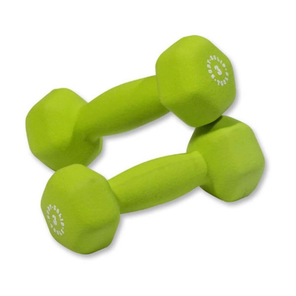 Body-Solid Tools BSTND Neoprene Dumbbells 3 lbs Pair