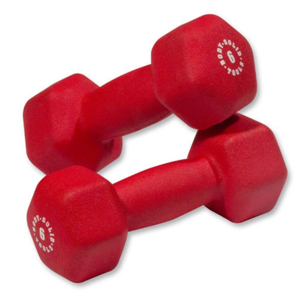 Body-Solid Tools BSTND Neoprene Dumbbells 6 lbs Pair