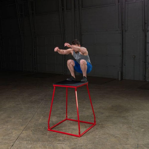 Image of Body-Solid Tools BSTPBS Plyo Box Sets Leg Elevated Jumping Over