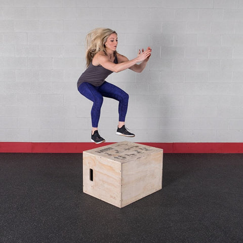 Image of Body-Solid Tools BSTWPBOX 3-in-1 Wooden Plyo Box Jump
