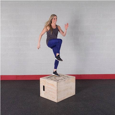 Image of Body-Solid Tools BSTWPBOX 3-in-1 Wooden Plyo Box Step Up