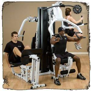 Image of Body-Solid EXM3000LPS Leg Press and Chest Press