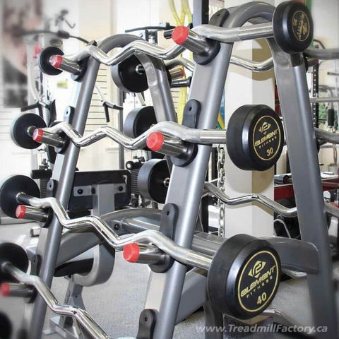 Image of Element Fitness 10-Pair Barbell Rack Close Up View