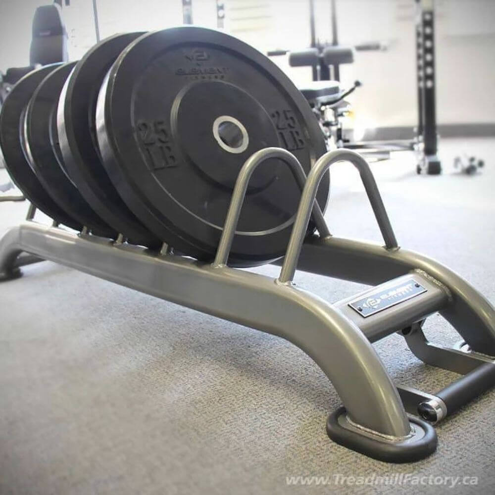 Element Fitness Bumper Plate Rack Close Up