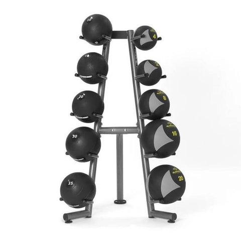 Image of Element Fitness Commercial 10-Ball Rack 3D View With MedBalls