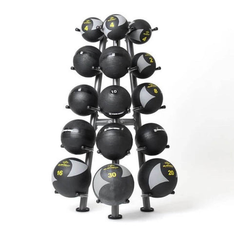 Image of Element Fitness Commercial 15-Ball Rack 3D View With Medballs