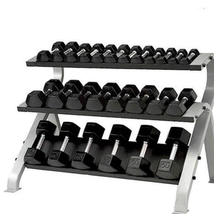 Element Fitness Commercial 3-Tier Hex Dumbbell Rack 3D View