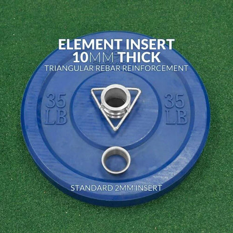 Element Fitness Commercial Black Bumper Plates 10mm Thick