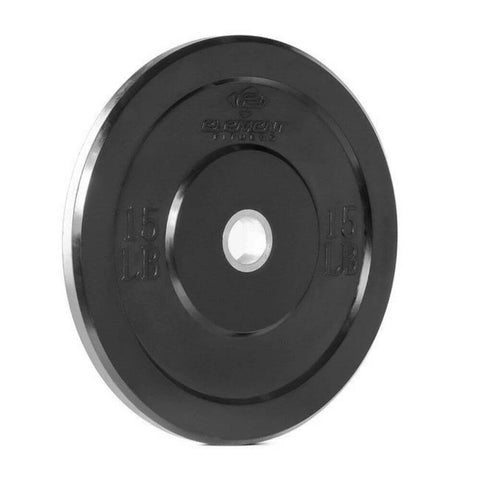 Image of Element Fitness Commercial Black Bumper Plates 15 lb
