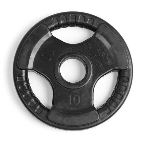 Element Fitness Commercial Olympic Rubber Tri-Grip Plates 10 lbs Top View