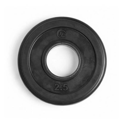 Image of Element Fitness Commercial Olympic Rubber Tri-Grip Plates 2.5 lbs Top View