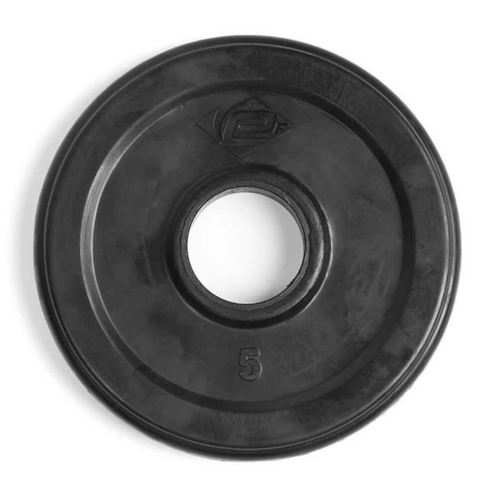 Element Fitness Commercial Olympic Rubber Tri-Grip Plates 5 lbs Top View