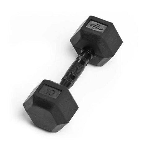 Element Fitness Commercial Rubber Hex Dumbbells 10 lbs