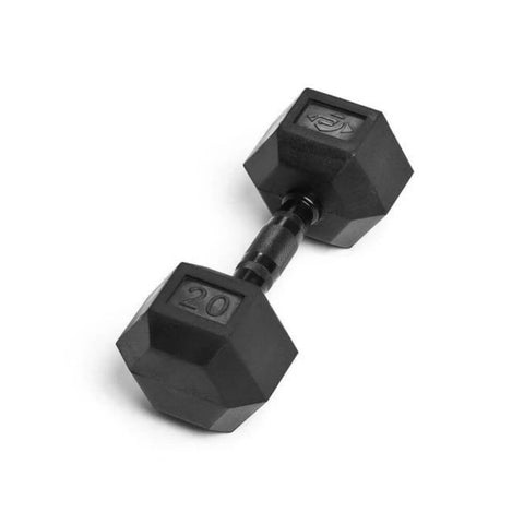 Element Fitness Commercial Rubber Hex Dumbbells 20 lbs