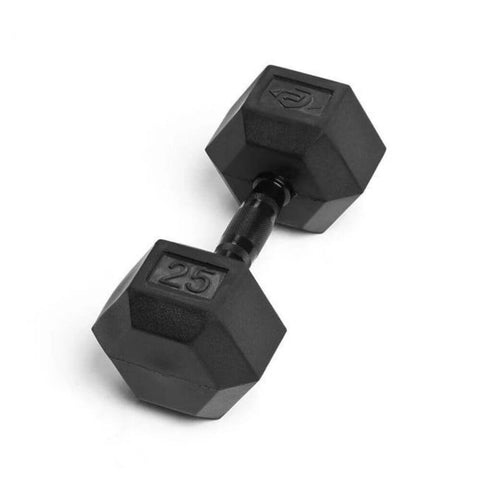 Element Fitness Commercial Rubber Hex Dumbbells 25 lbs