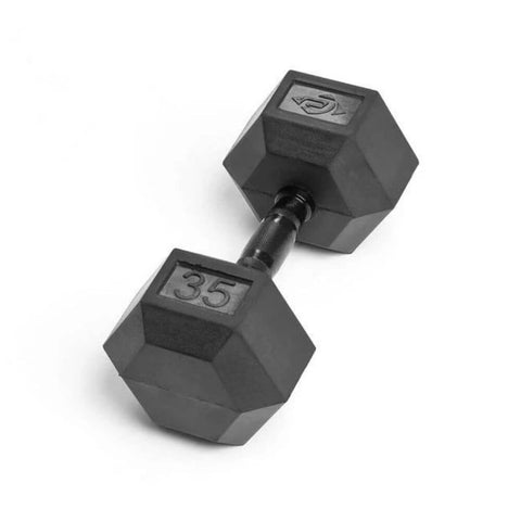 Element Fitness Commercial Rubber Hex Dumbbells 35 lbs