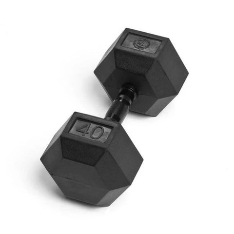 Element Fitness Commercial Rubber Hex Dumbbells 40 lbs