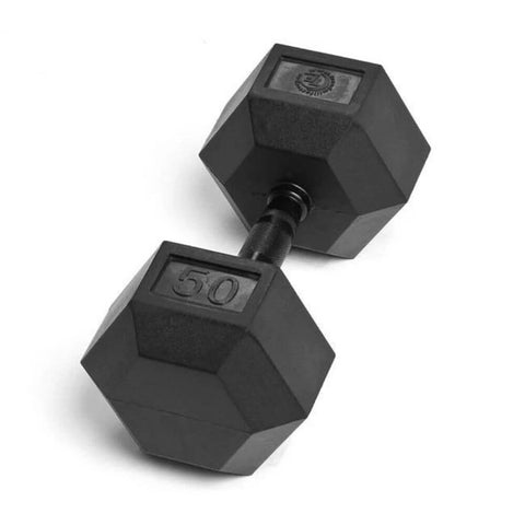 Element Fitness Commercial Rubber Hex Dumbbells 50 lbs