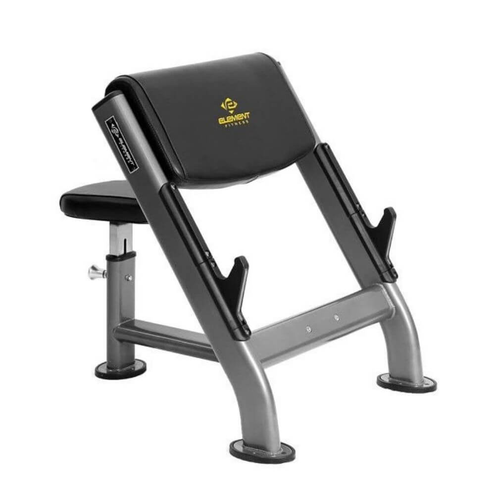 Element Fitness Preacher Curl Bench 3D View
