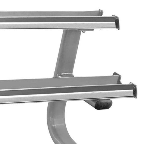 Image of Element Fitness Titanium Series Dumbbell Rack Close Up Edge