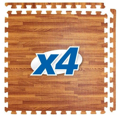 Element Fitness Wood Finish Interlocking Floor Mats