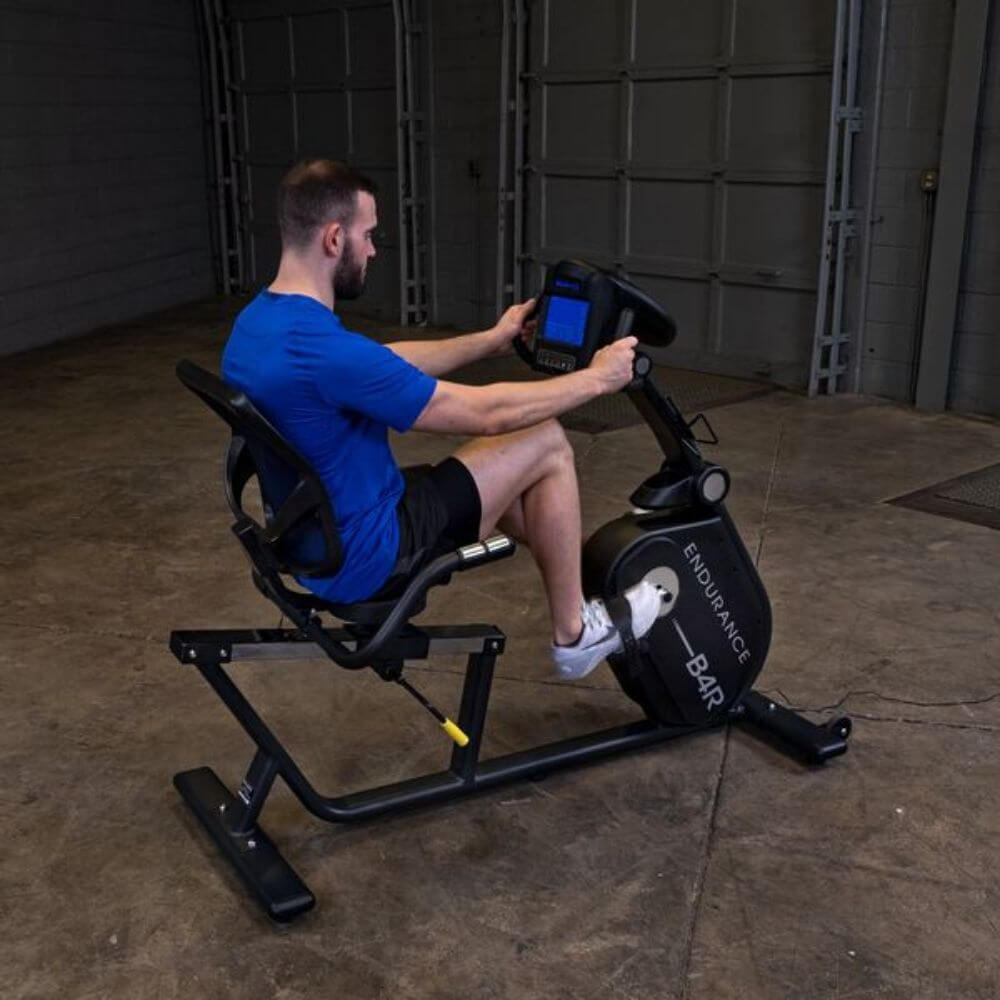 Endurance by Body-Solid Recumbent Bike B4RB Rear Side View