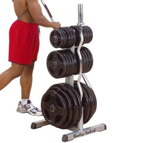 Image of Body-Solid Olympic Plate Tree & Bar Holder GOWT