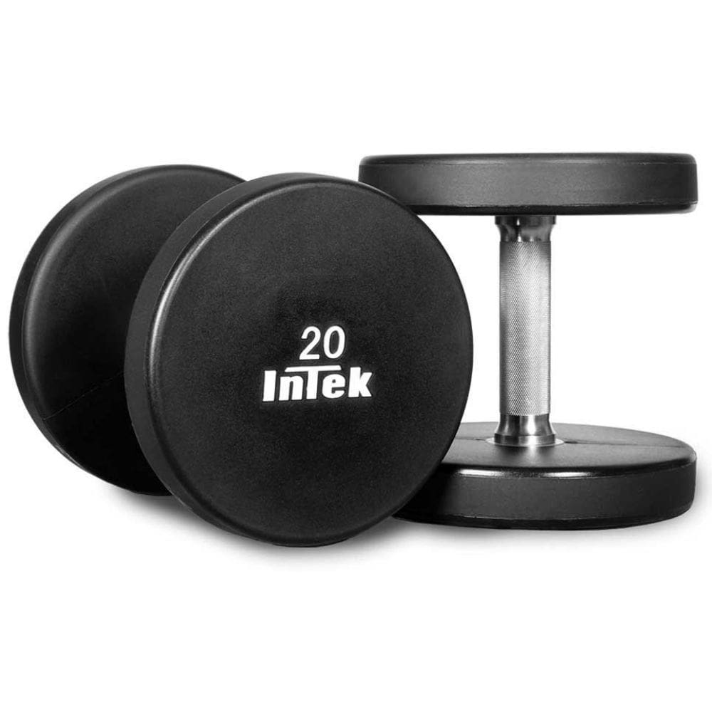 Intek Strength Armor Series Solid Urethane Dumbbells 3D View