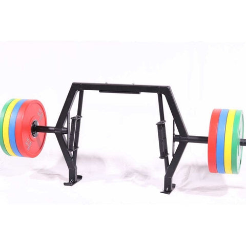 Intek Strength Modular Functional Bars Front View With Weeble Jack