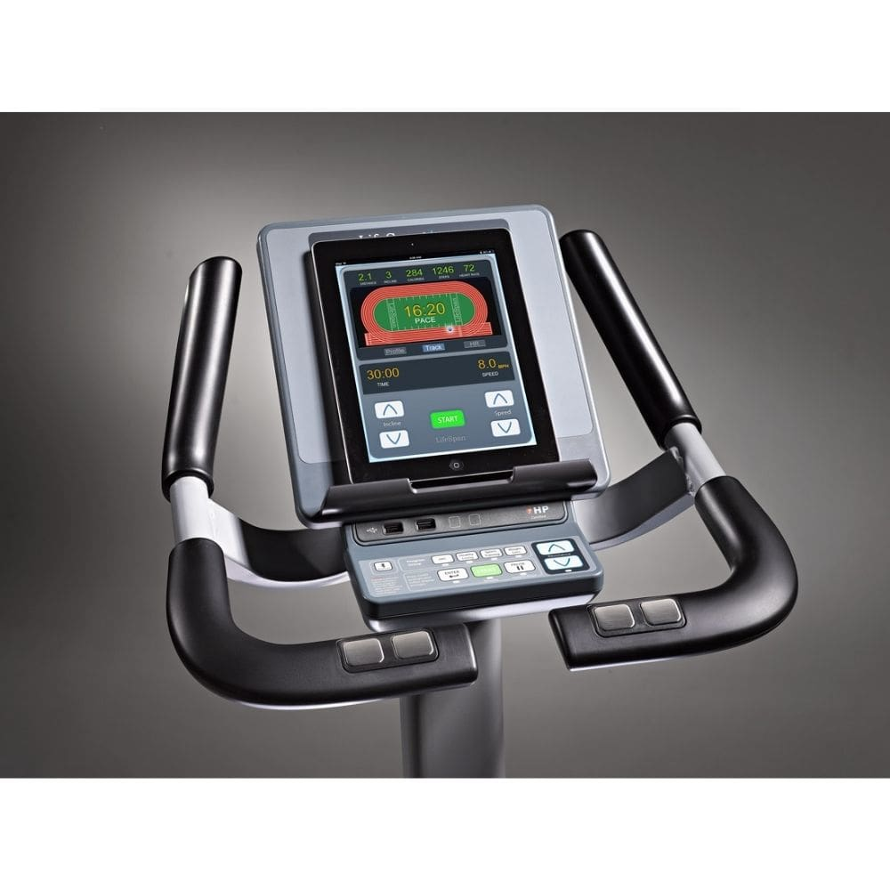 LifeSpan Fitness C7000i Commercial Upright Bike Console Top View