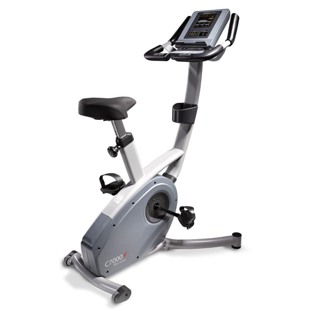 LifeSpan Fitness C7000i Commercial Upright Bike Rear Side View