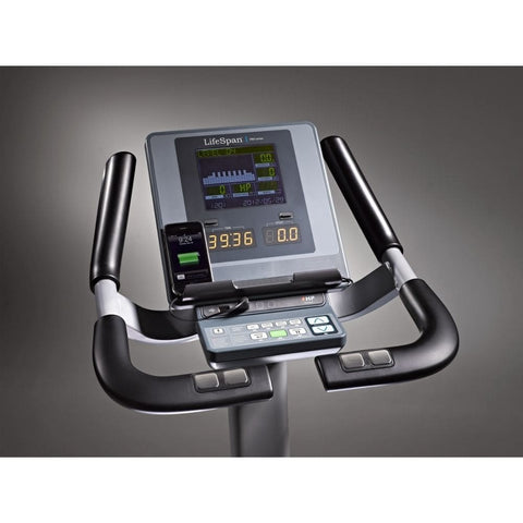 Image of LifeSpan Fitness C7000i Commercial Upright Bike With iPhone