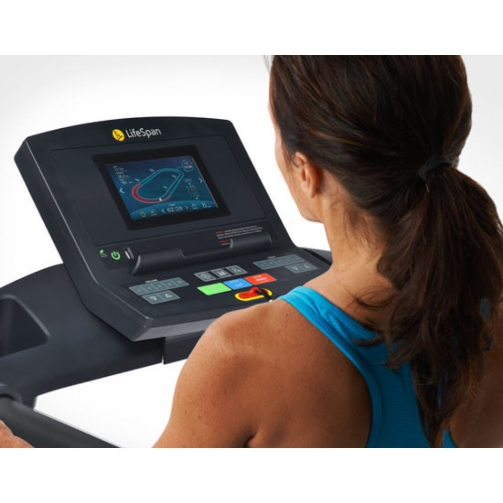 LifeSpan Fitness TR2000i Folding Treadmill Console Top View