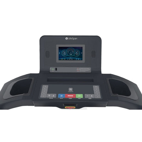 LifeSpan Fitness TR3000i Folding Treadmill Console Front View