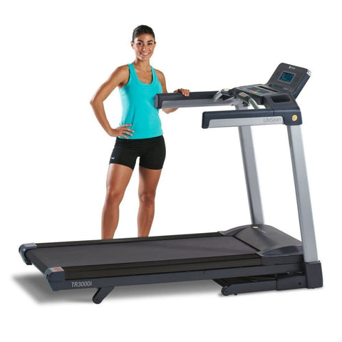 Image of LifeSpan Fitness TR3000i Folding Treadmill Standing