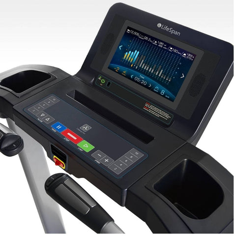 LifeSpan Fitness TR5500i Folding Treadmill Console Top View