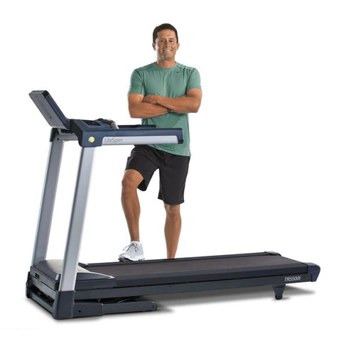 Image of LifeSpan Fitness TR5500i Folding Treadmill Standing