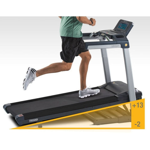 LifeSpan Fitness TR5500i Folding Treadmill Supports Speeds Up to 13.5 MPH