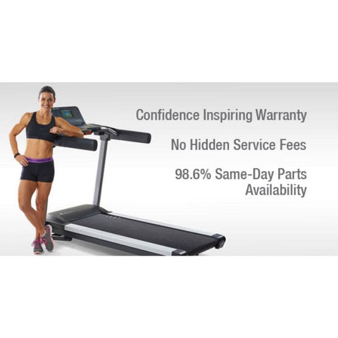 Image of LifeSpan Fitness TR6000i Light-Commercial Treadmill Aluminum Side Rails