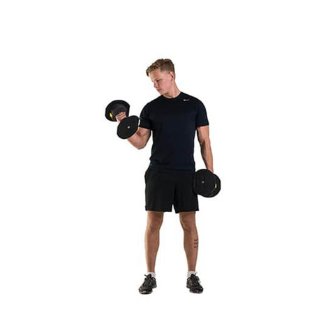 MX Select MX55 Adjustable Dumbbells Standing Bicep Curl