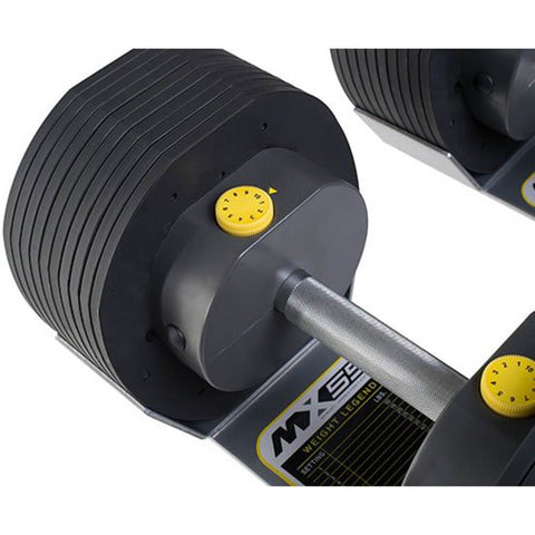 MX Select MX55 Adjustable Dumbbells Top View
